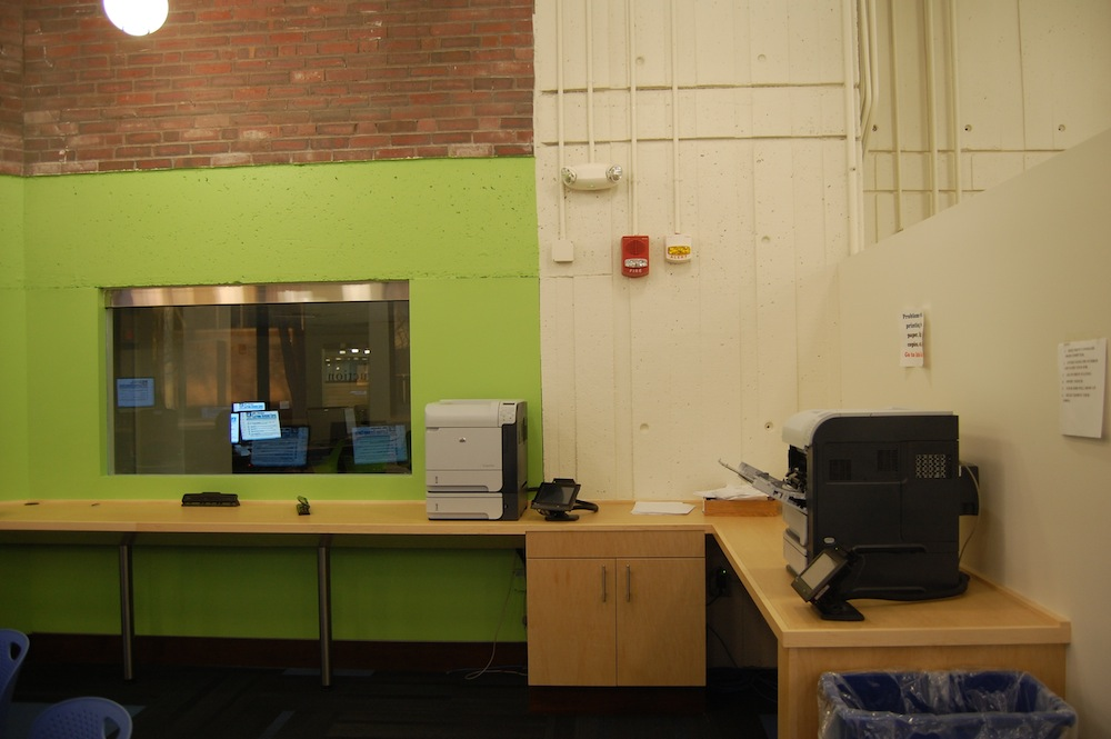 umass lowell copy and fax area