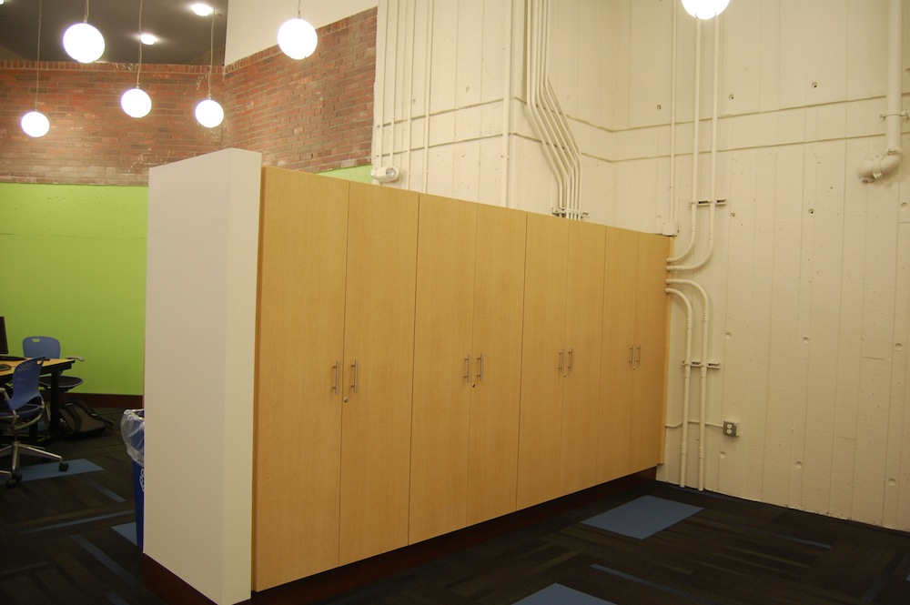umass lowell learning center cabinets